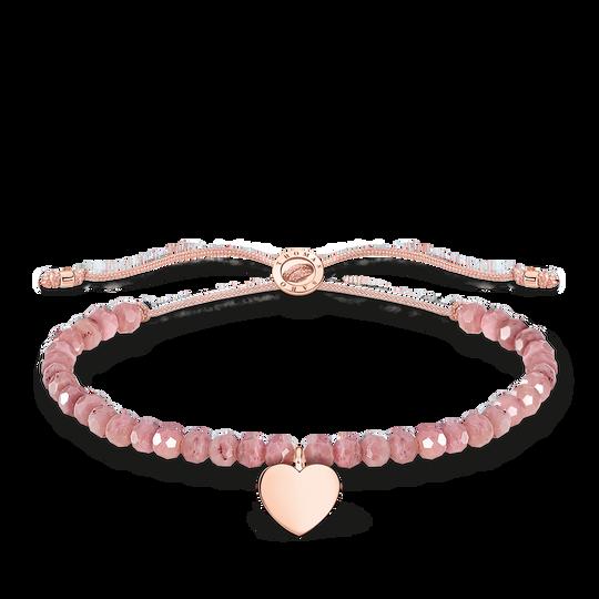 Bracelet rose perles cœur or rose de la collection Charming Collection dans la boutique en ligne de THOMAS SABO