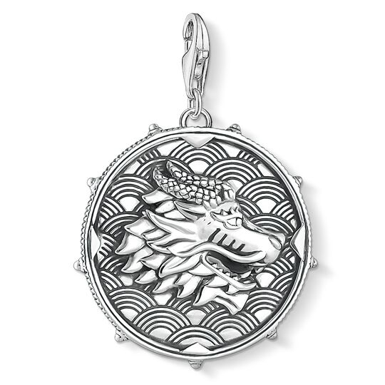 Charm pendant disc dragon from the  collection in the THOMAS SABO online store