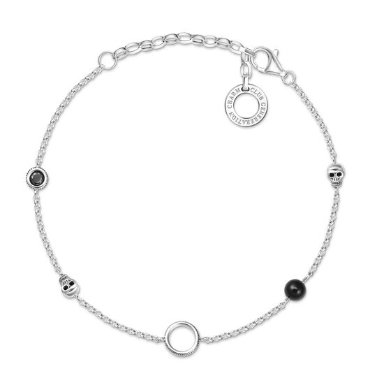 "Charm bracelet ""Skull"" from the  collection in the THOMAS SABO online store"