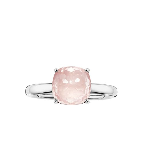 "solitaire ring ""pink"" from the Glam & Soul collection in the THOMAS SABO online store"