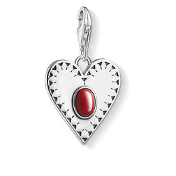 Charm pendant Heart red stone from the  collection in the THOMAS SABO online store