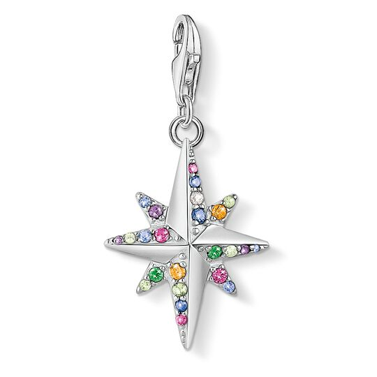 Charm pendant Colourful star, silver from the Glam & Soul collection in the THOMAS SABO online store