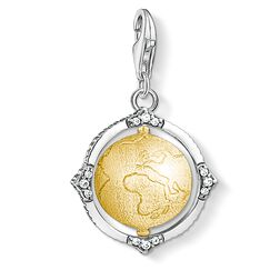 Charm pendant Vintage globe from the  collection in the THOMAS SABO online store