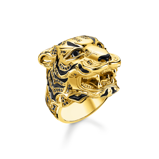 Ring Tiger gold aus der Rebel at heart Kollektion im Online Shop von THOMAS SABO