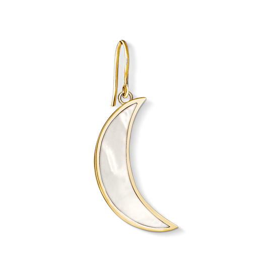 earring mother of pearl Moon from the Charm Club collection in the THOMAS SABO online store