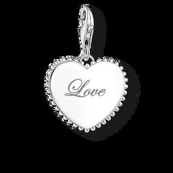 """pendentif Charm """"cœur love"""" de la collection Glam & Soul dans la boutique en ligne de THOMAS SABO"""