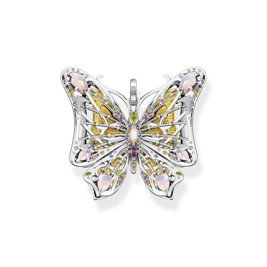 Pendant butterfly colourful stones gold from the  collection in the THOMAS SABO online store