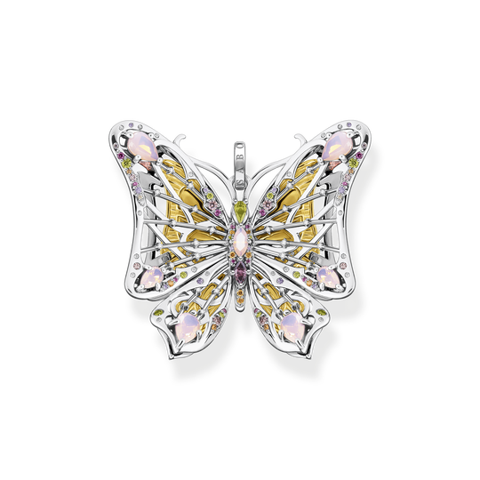 Pendant butterfly colourful stones gold from the Glam & Soul collection in the THOMAS SABO online store