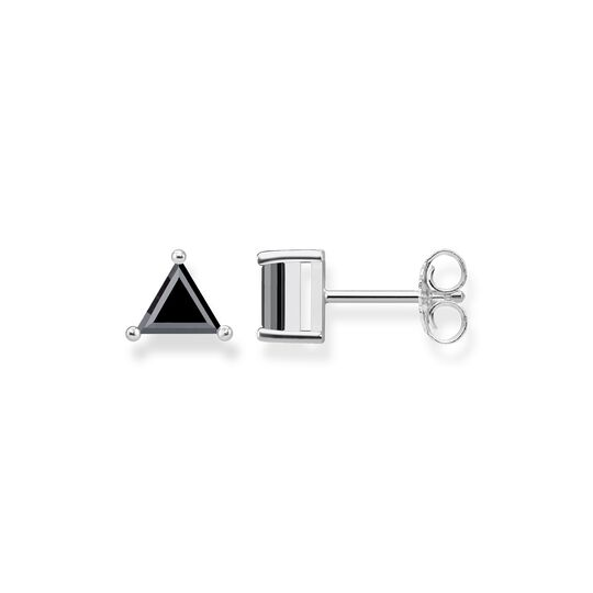 "ear studs ""Triangle Black"" from the Glam & Soul collection in the THOMAS SABO online store"