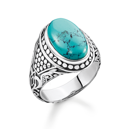 "ring ""turquoise"" from the Rebel at heart collection in the THOMAS SABO online store"