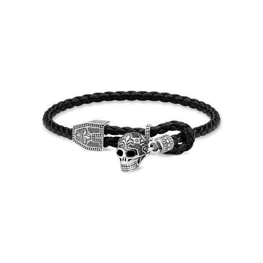 leather strap skull from the Rebel at heart collection in the THOMAS SABO online store