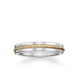 "band ring ""rope"" from the Rebel at heart collection in the THOMAS SABO online store"
