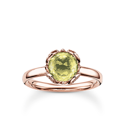 "solitaire ring ""green lotus flower"" from the Glam & Soul collection in the THOMAS SABO online store"