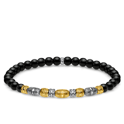 bracelet Two-tone lucky charm, black from the Glam & Soul collection in the THOMAS SABO online store