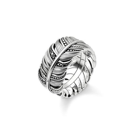 ring feather pavé from the Rebel at heart collection in the THOMAS SABO online store