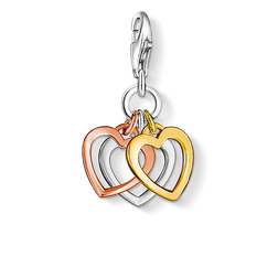Charm pendant three hearts from the Charm Club Collection collection in the THOMAS SABO online store
