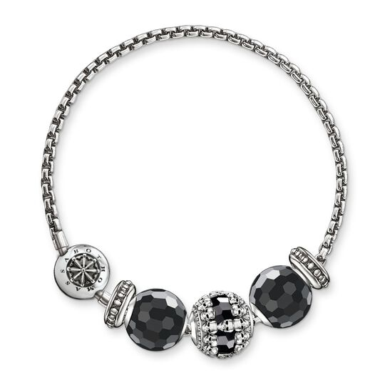 """bracelet """"black skulls"""" from the Karma Beads collection in the THOMAS SABO online store"""