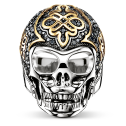 ring black diamond skull from the Rebel at heart collection in the THOMAS SABO online store