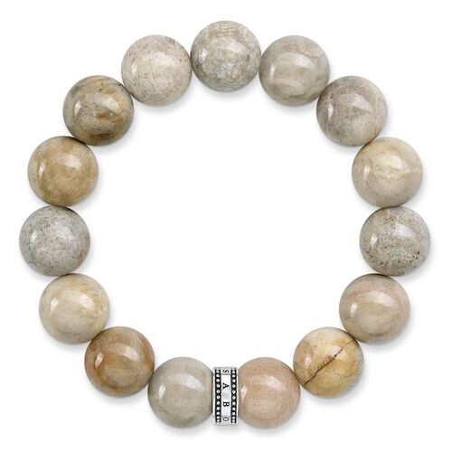 """bracelet """"Power Bracelet Beige"""" from the Rebel at heart collection in the THOMAS SABO online store"""