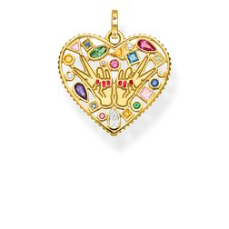 "pendant ""love & peace"" from the Glam & Soul collection in the THOMAS SABO online store"