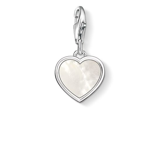 Charm pendant mother-of-pearl heart from the  collection in the THOMAS SABO online store