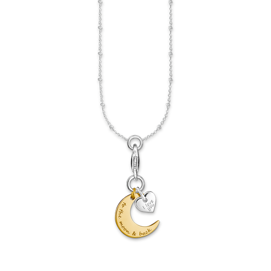 Charm necklace Moon & Heart I LOVE YOU TO THE MOON & BACK from the Charm Club collection in the THOMAS SABO online store