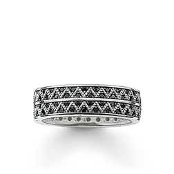 "band ring ""black zig zag"" from the Glam & Soul collection in the THOMAS SABO online store"