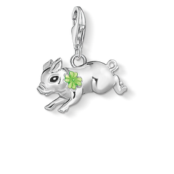 Charm pendant Little pig with cloverleaf from the  collection in the THOMAS SABO online store