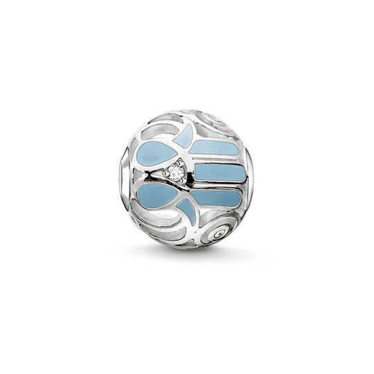 Bead blue Fatima's hand from the Karma Beads collection in the THOMAS SABO online store