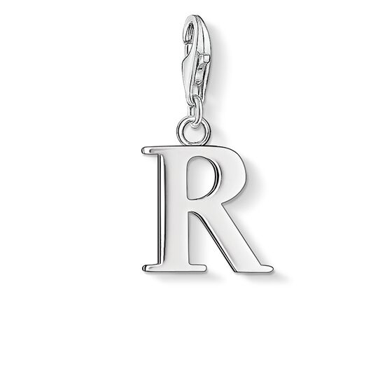 "ciondolo Charm ""lettera R"" from the  collection in the THOMAS SABO online store"