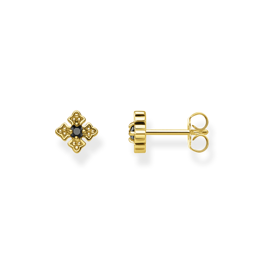 Ear studs Royalty gold from the Rebel at heart collection in the THOMAS SABO online store