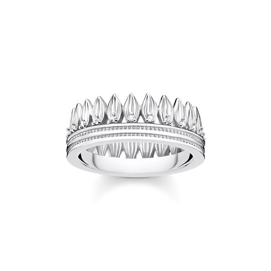 ring leaves crown silver from the  collection in the THOMAS SABO online store