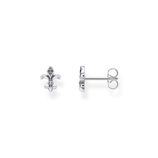 clous d'oreilles fleur de lys de la collection Rebel at heart dans la boutique en ligne de THOMAS SABO