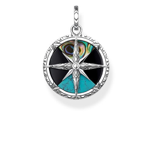 """pendant """"compass small"""" from the Rebel at heart collection in the THOMAS SABO online store"""
