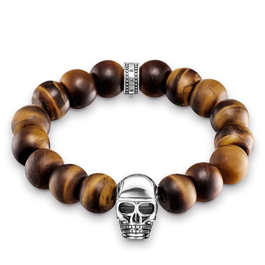 Power Bracelet Brown Skull from the Rebel at heart collection in the THOMAS SABO online store