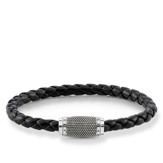 "leather strap ""black Kathmandu"" from the Rebel at heart collection in the THOMAS SABO online store"