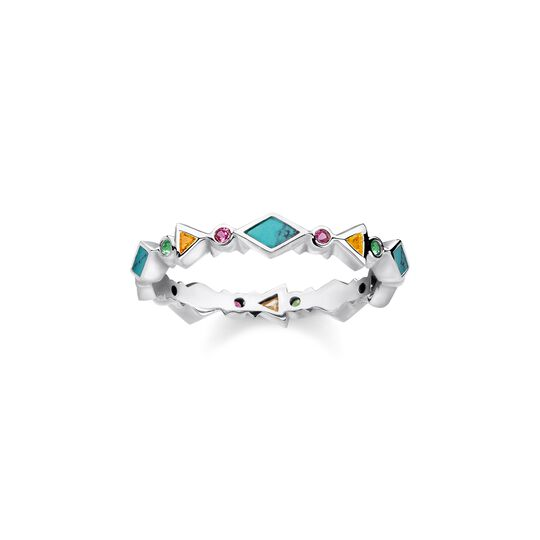 ring colourfull stones from the  collection in the THOMAS SABO online store