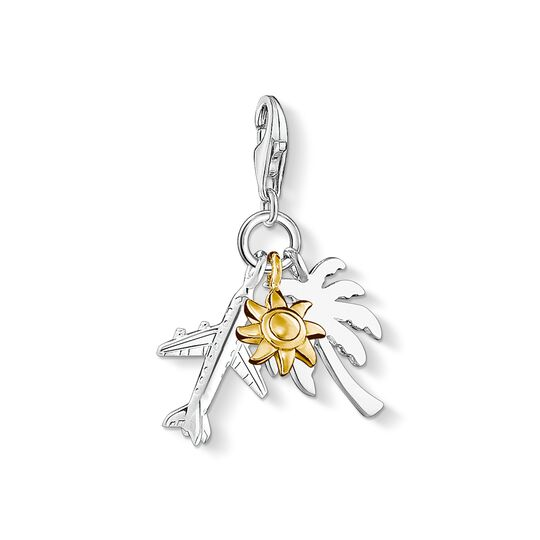 Charm pendant palm tree, sun, plane from the Charm Club collection in the THOMAS SABO online store