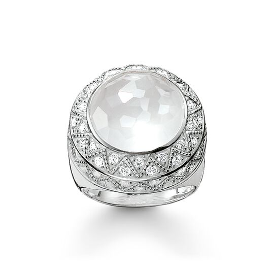 coktail ring white zig zag from the  collection in the THOMAS SABO online store