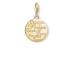 Ciondolo Charm Praga oro from the  collection in the THOMAS SABO online store