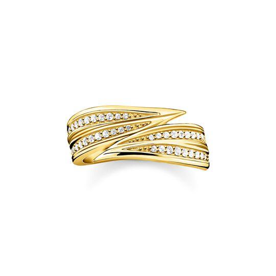 Ring Blätter gold aus der  Kollektion im Online Shop von THOMAS SABO