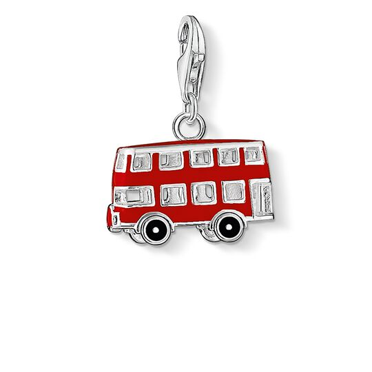Charm pendant London bus from the  collection in the THOMAS SABO online store