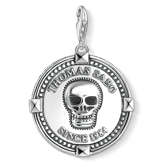 Charm pendant disc skull from the Charm Club collection in the THOMAS SABO online store