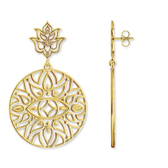 ear studs lotus flower ornamentation from the Glam & Soul collection in the THOMAS SABO online store