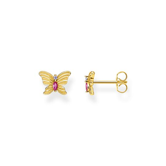 ear studs butterfly gold from the  collection in the THOMAS SABO online store