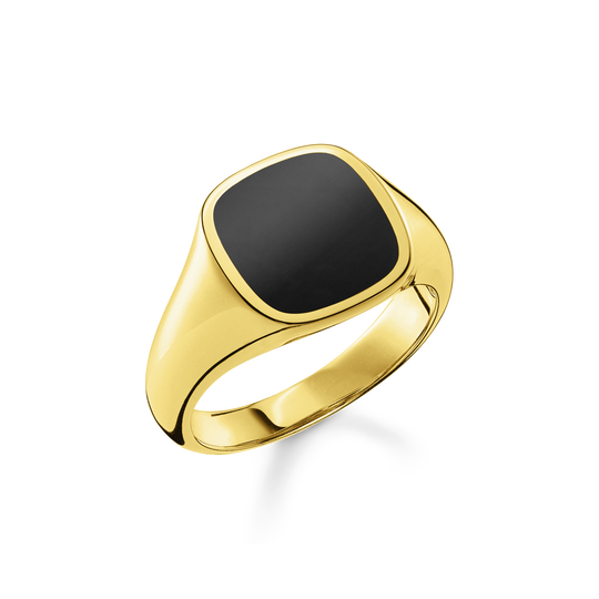 Bague Classic noir-or de la collection Rebel at heart dans la boutique en ligne de THOMAS SABO