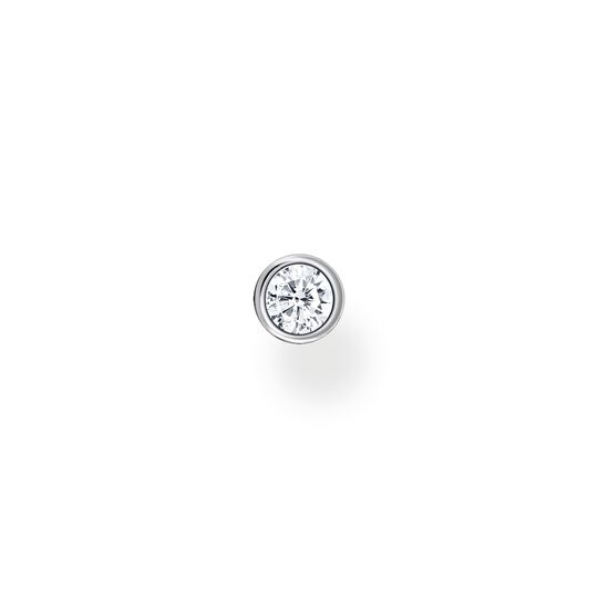 Single ear stud white stone silver from the Charming Collection collection in the THOMAS SABO online store