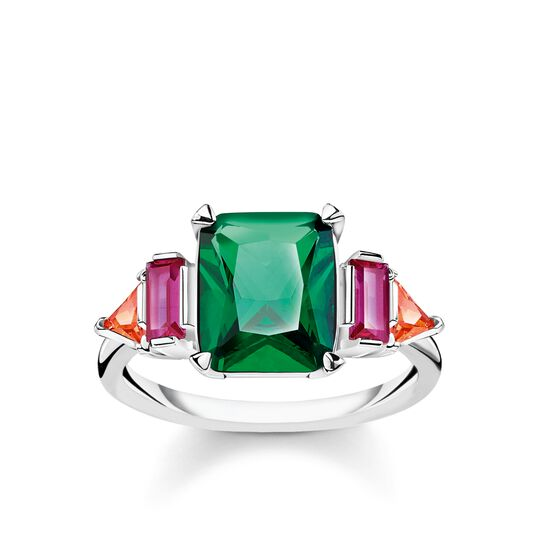 ring Colourful stones, silver from the Glam & Soul collection in the THOMAS SABO online store