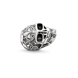 "Bead ""skull with lily"" from the Karma Beads collection in the THOMAS SABO online store"