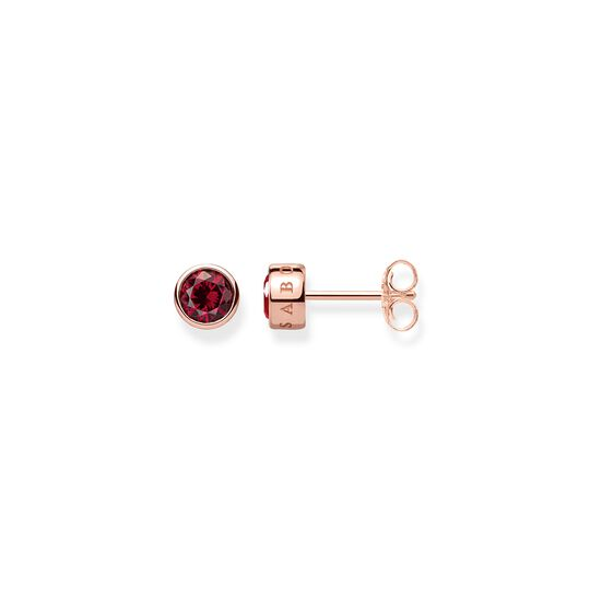ear studs red stone from the  collection in the THOMAS SABO online store
